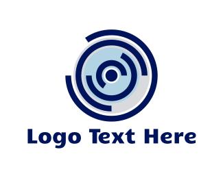 Record - Blue Record logo design