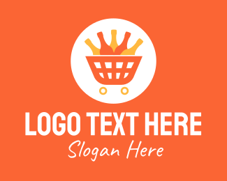 Grocery Store - Bottle Shop Store Cart logo design