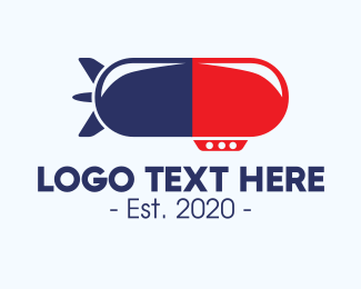 Multivitamins - Airship Medical Pill logo design
