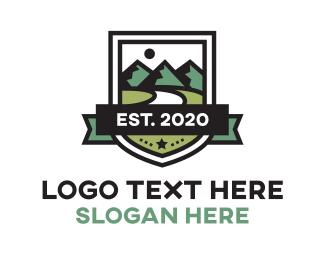 Outdoor - Mountain Shield logo design