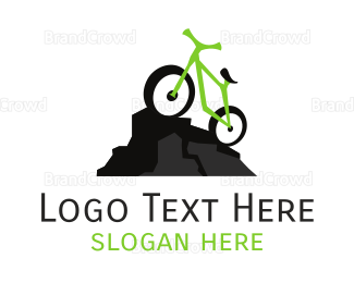 Bike Shop - Green Mountain Bike logo design