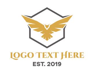 """Golden  Eagle Hexagon"" by beldinki"