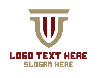 Attorney - Modern Pillar Shield logo design
