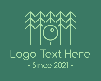 Lens - Forest Tree Lens logo design