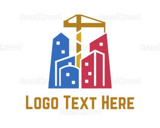 Downtown - Builder City logo design