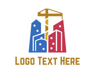 Metropolis - Construction City logo design