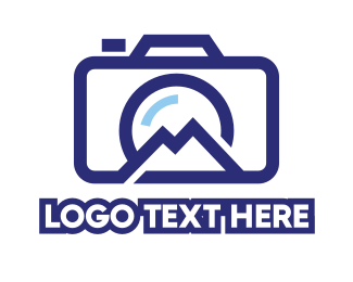Backpacking - Camera Hill Outline logo design