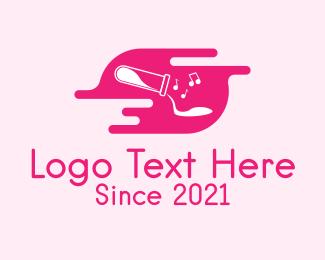 Music Producer - Pink Music Lab logo design