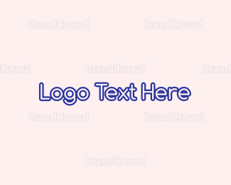 Learning Center - Cute Purple Round Text logo design