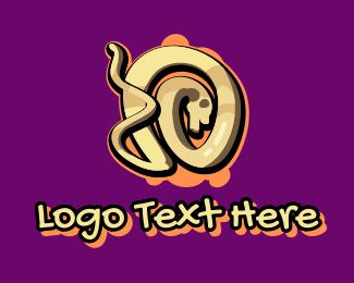 Graffiti Art Letter O Logo