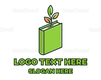 School - Eco Green Book logo design