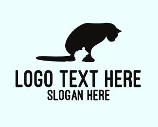 Lunch - Mouse & Cat logo design