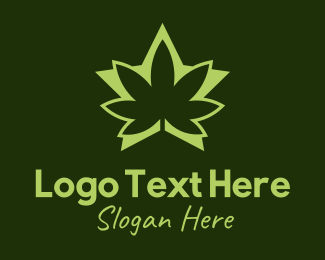 Joint - Green Weed Star logo design