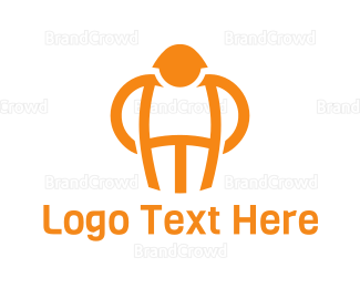 Man - Orange Man logo design