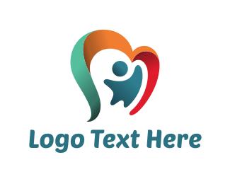Happiness - Ribbon Child logo design
