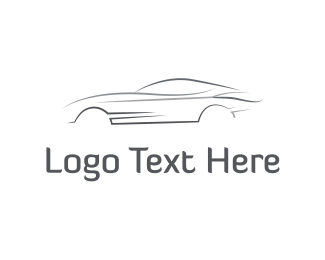 Driver - Grey Speed Car logo design