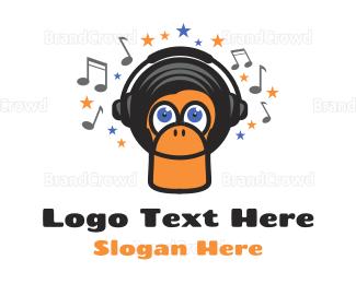 Radio - Funky Monkey logo design