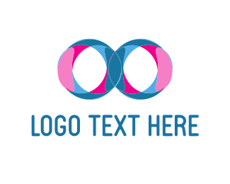 Blue And Pink - Infinity Colors logo design
