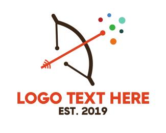 Projectile - Archery Online logo design