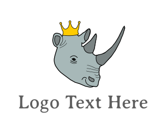 Royalty - Rhino King logo design
