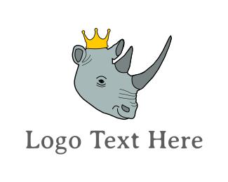 Rhinoceros - Rhino King logo design