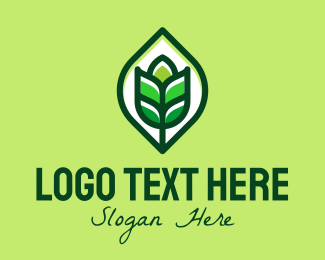 Farm Produce - Green Plant Organic logo design