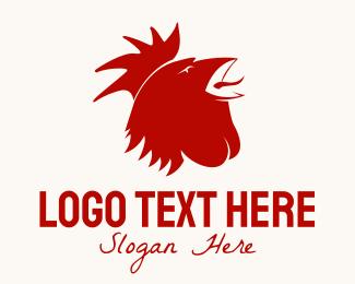 Red Bird - Red Rooster logo design