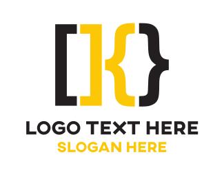 Lettermark - Clever K Bracket logo design