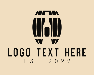 Wooden - Wine Wooden Barrel logo design