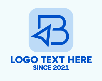 Ad - Blue Cursor Letter B logo design