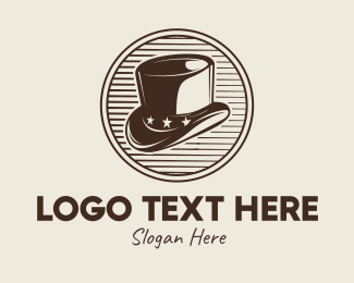 Vintage Men's Hat Logo