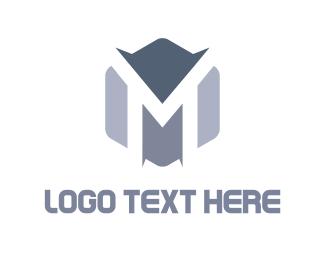 Mountain - Peaks & Letter   logo design