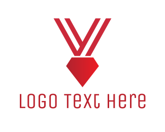 Victory - Red Diamond Medal  logo design