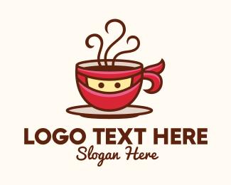 Hot Choco - Ninja Coffee Cup logo design
