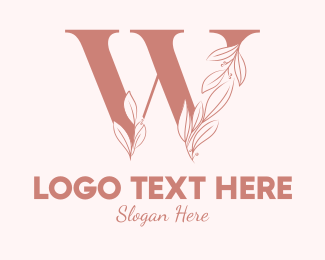 Aesthetics - Elegant Leaves Letter W logo design