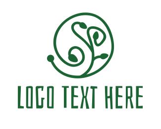 Plant - Green Organic Plant logo design