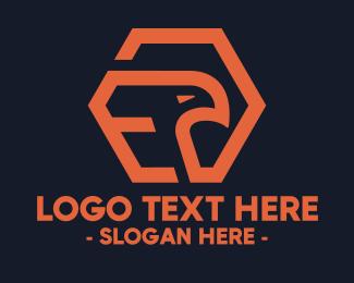 Hexagonal - Hexagon Eagle logo design