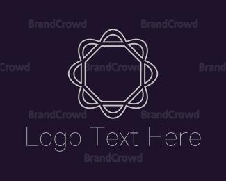 White - White Flower logo design
