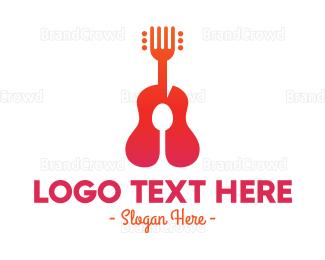 Restaurant - Acoustic Restaurant logo design