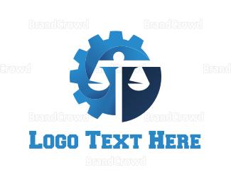 Law - Law Gear logo design
