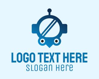 Space Exploration - Blue Helmet Location Pin logo design