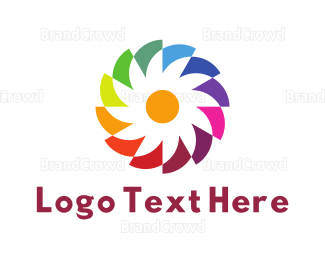 Rainbow - Rainbow Blossom logo design