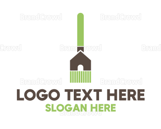Cleaning Services - Home Broom  logo design