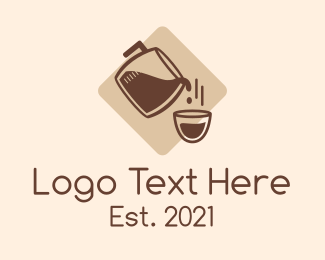 Cafe Americano - Coffee Cup Refill logo design