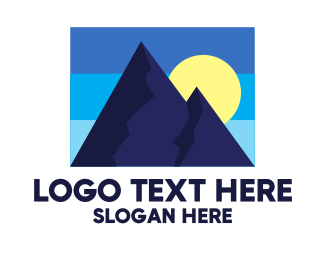 Stamp - Blue Mountain Peak  logo design