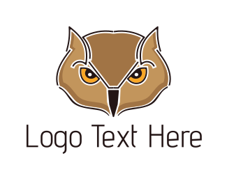 Orange And Brown - Brown Owl logo design