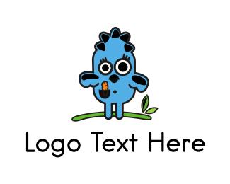Blue Bird Cartoon Logo