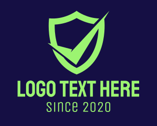 Check Mark - Green Security Check logo design