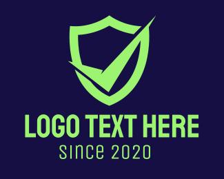 Secure - Green Security Check logo design