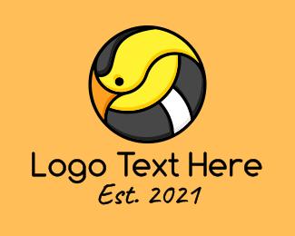 Circle - Cartoon Goldfinch Bird logo design